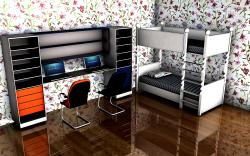 طرح شیک اتاق خواب دو تخته